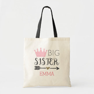 Personalized Big Sister Tote Bag
