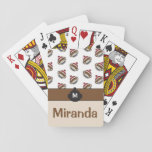 """Personalized Big Smile Sock Monkey Emoji Playing Cards<br><div class=""""desc"""">These funny little sock monkey emojis are sure to spread some cheer with their great big smiles. This item can be personalized with both your monogram and name. In addition,  the background and font can both be customized to your liking.</div>"""