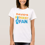 Personalized Biggest Fan sports hand T-Shirt