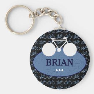 personalized biker idea basic round button keychain
