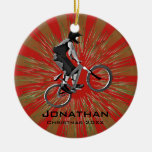 Personalized Biking Ornament