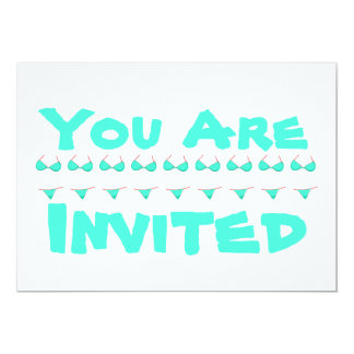 Personalized Bikini Beach   Pool Party Card