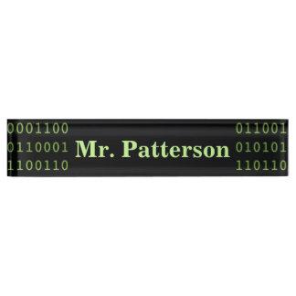 Personalized Binary Code Name Plate