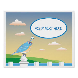Personalized Bird by the Water Children's Poster