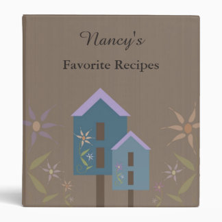 Personalized Birdhouse Recipe Book Binder