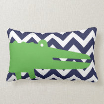 Personalized Birth Details Alligator Lumbar Pillow