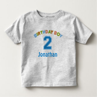 Personalized Birthday Boy (2 years old) Toddler T-shirt
