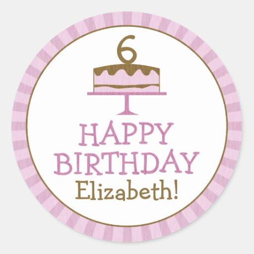 Personalized Birthday Cake Kids Stickers Zazzle