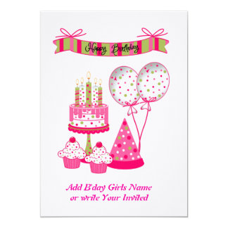 Personalized Birthday  Card/Invitations Card