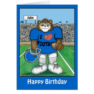 Personalized Birthday Card w/ Football Team Colors