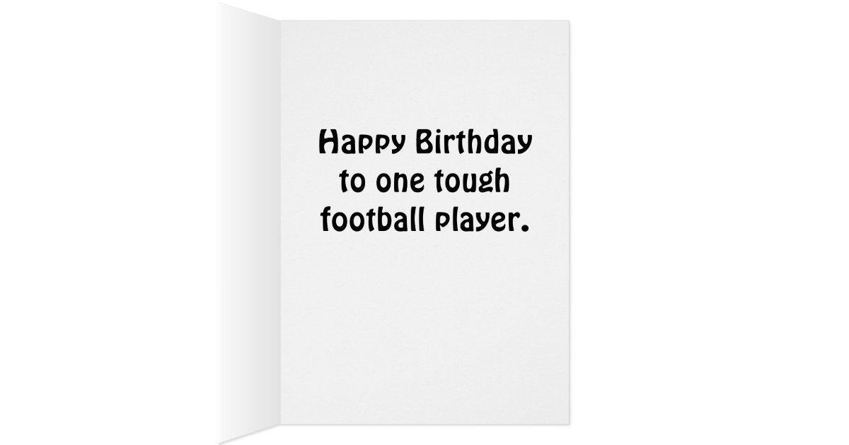 Personalized Birthday Card w Football Team Colors – Football Team Birthday Cards