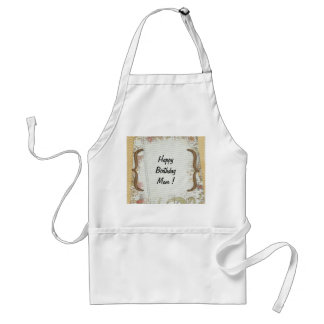 Personalized Birthday Flowers Notebook Paper Adult Apron