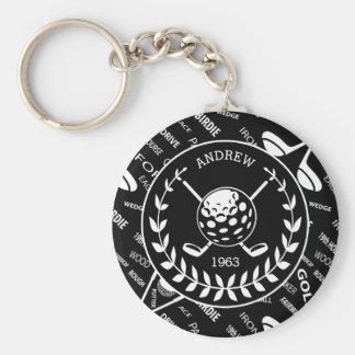 Personalized birthday golf keychain