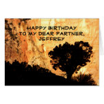 Personalized Birthday Greeting Card, Partner
