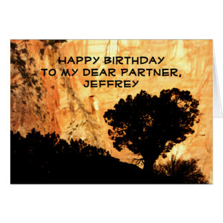 Personalized Birthday Greeting Card, Partner, Tree Card