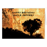 Personalized Birthday Greeting Card, Uncle Greeting Card