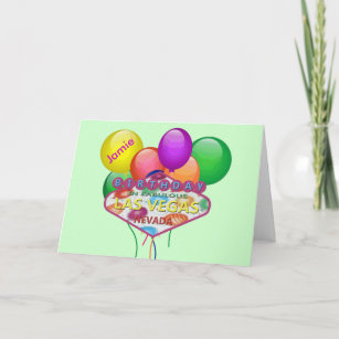 Personalized Birthday In Las Vegas Card