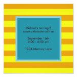 """Personalized Birthday Invitation 5.25"""" Square Invitation Card"""