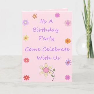 Personalized Birthday Invite card