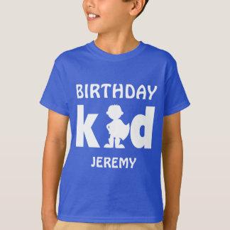 Personalized Birthday Kid Superhero Boy Silhouette T-Shirt