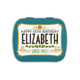 Personalized Birthday Name Candy Tins