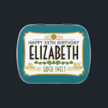 """Personalized Birthday Name Jelly Belly Tin<br><div class=""""desc"""">A humorous take with an area to add name and personality trait. A gag gift or birthday memento. If you need to personalize it more,  click on the customize this button to make changes.</div>"""
