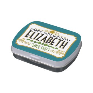 Personalized Birthday Name Jelly Belly Tins