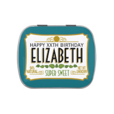 Personalized Birthday Name Jelly Belly Tins at Zazzle