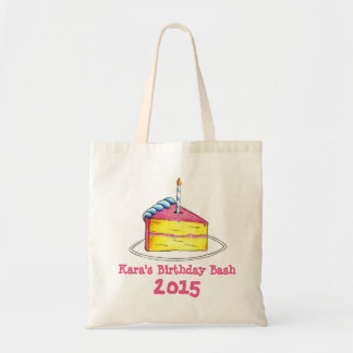 Personalized Birthday Party Cake w/ Candle Tote