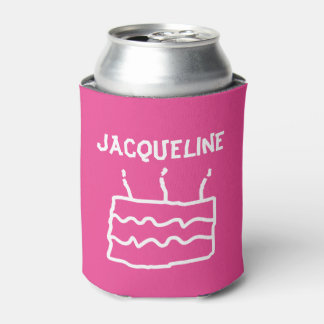 Personalized Birthday PINK Can Cooler