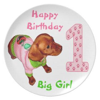 Personalized Birthday Plates Babies 1st Birthday