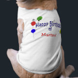 """Personalized Birthday Song Tee<br><div class=""""desc"""">Musical notes and party balloons theme that can be personalized with your pet&#39;s name.</div>"""