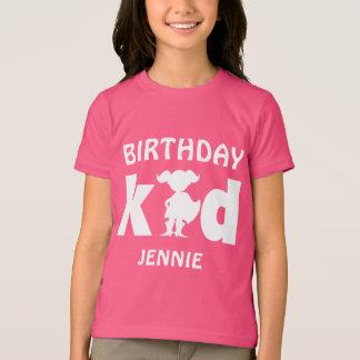 Personalized Birthday Superhero Girl Silhouette T-Shirt