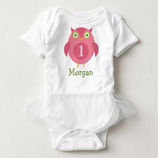 Personalized Birthday T-Shirt | Pink Owl