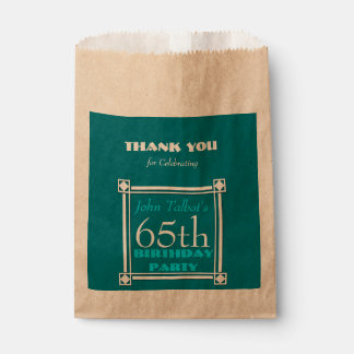Personalized Birthday Thank You Favor Bag