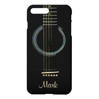 Personalized Black Acoustic Guitar iPhone 7 Case