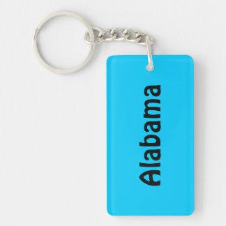 Personalized Black and Aqua Blue Double-Sided Rectangular Acrylic Keychain