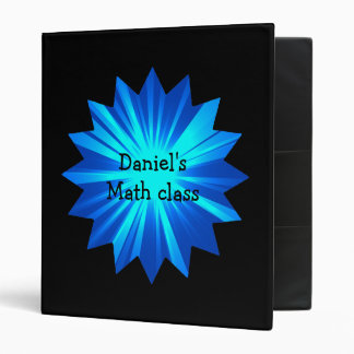 Personalized black and blue binder