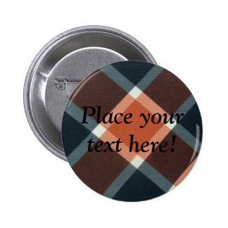 Personalized Black and Red plaid pins buttons