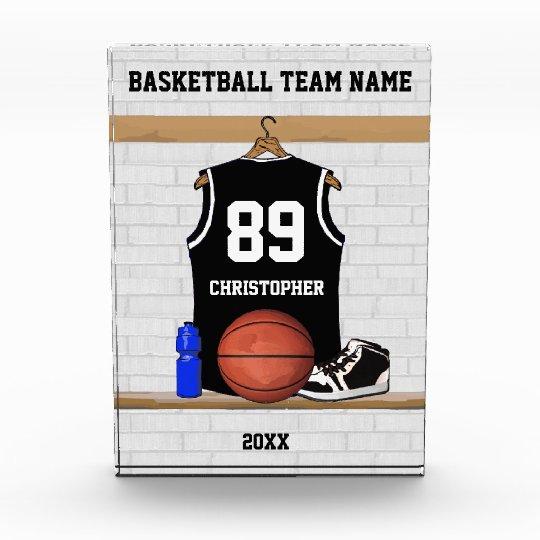 Personalized Black and white basketball jersey Award