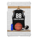 Personalized Black and White Basketball Jersey Case For The iPad Mini