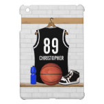 Personalized Black and White Basketball Jersey iPad Mini Cover