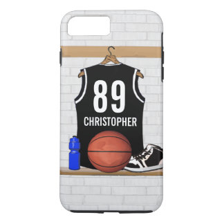 Personalized Black and White Basketball Jersey iPhone 7 Plus Case