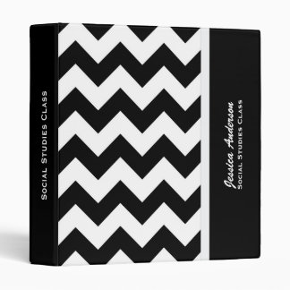 Personalized: Black And White Chevron Binder 2