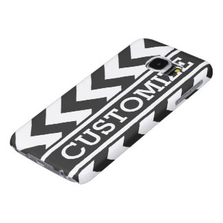 Personalized Black and White Chevron Samsung Galaxy S6 Case
