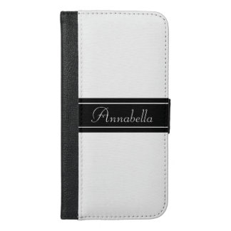 Personalized Black and White iPhone 6/6s Plus Wallet Case
