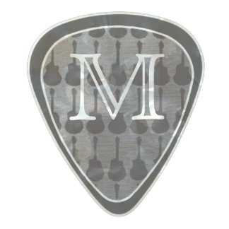 personalized black and white pearl celluloid guitar pick