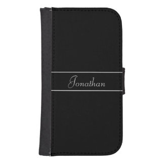 Personalized Black and White Phone Wallet