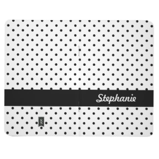 Personalized Black and White Polka Dots Journal