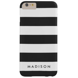 Personalized Black and White Stripe iPhone 6+ Case